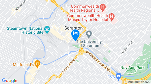 Radisson Lackawanna Station Hotel Scranton Map