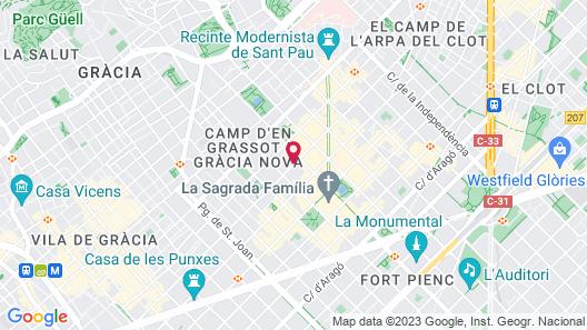 Hotel Sagrada Familia Map
