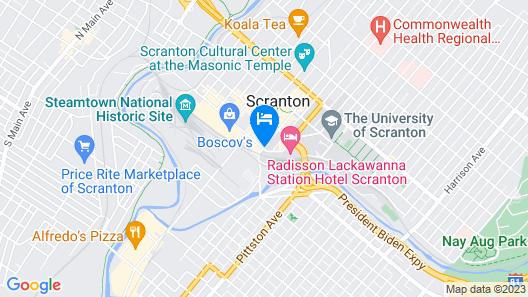 Hilton Scranton & Conference Center Map