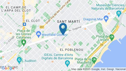 The Level At Melia Barcelona Sky Map