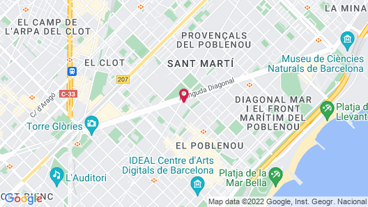 Melia Barcelona Sky Map