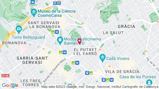 Catalonia Park Putxet Hotel Map