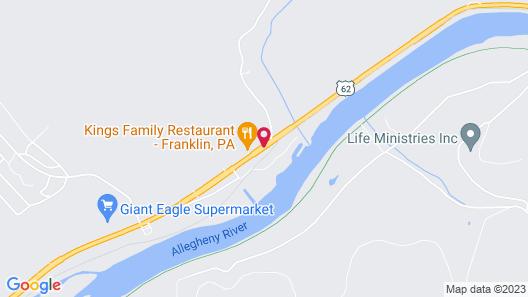 Knights Inn Franklin, PA Map