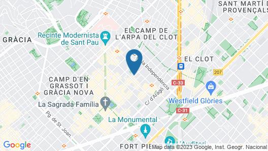 Sagrada Familia Flats Map