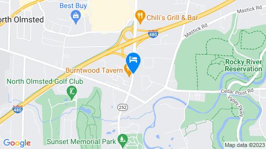 Aloft Cleveland Airport Map