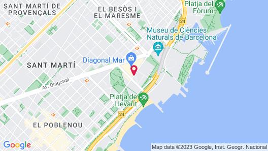 Hilton Diagonal Mar Barcelona Map