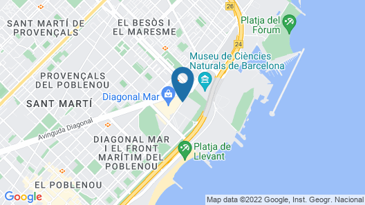 AC Hotel Barcelona Forum by Marriott Map