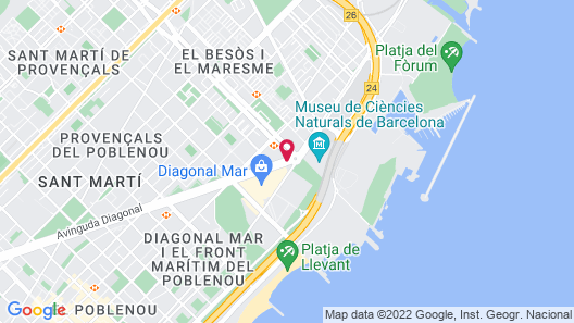 Hotel Barcelona Princess Map