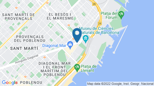 Hotel Barcelona Princess Map