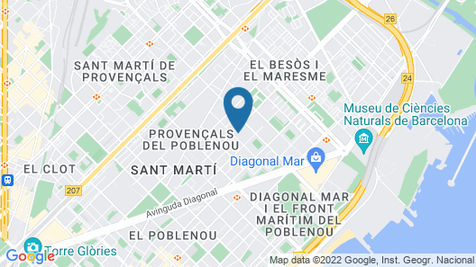 Hotel Barcelona Condal Mar, managed by Melia Map