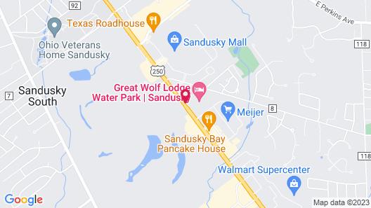 Great Wolf Lodge Sandusky OH Map
