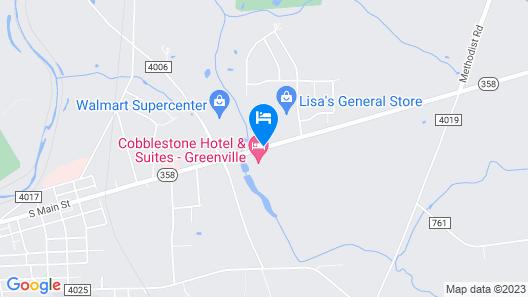 Cobblestone Hotel & Suites - Greenville Map
