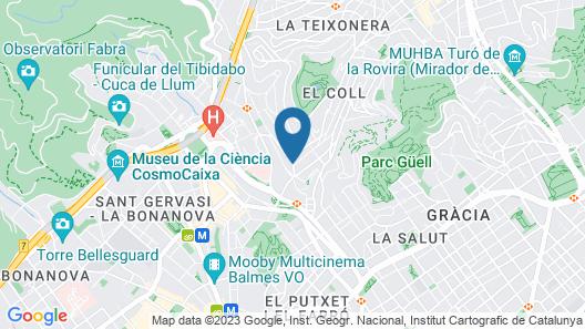 Catalonia Park Güell Map