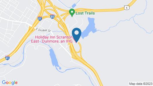 Holiday Inn Scranton East - Dunmore Map