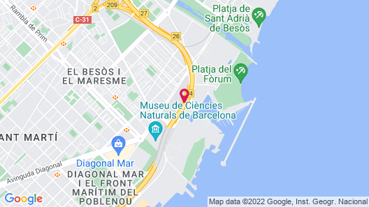Xior Diagonal Besòs Residence Only for students and academic staff at Barcelona schools/universities Map