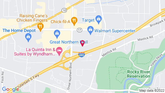 Courtyard by Marriott Cleveland Airport North Map