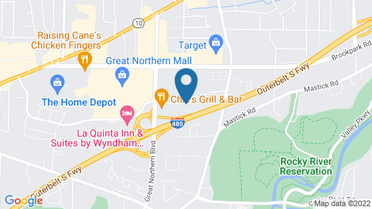 Extended Stay America Suites Cleveland Airport North Olmsted Map