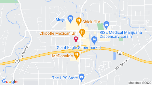 Motel 6 Amherst, OH - Cleveland West - Lorain Map