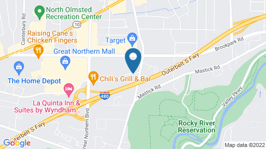 Hampton Inn North Olmsted Cleveland Airport Map
