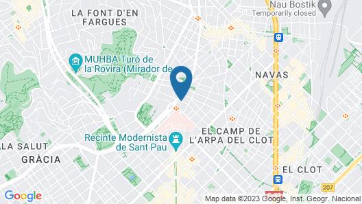 Castro Exclusive Residences Sant Pau Map