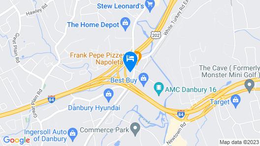 Quality Inn & Suites Danbury near University Map