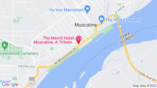 The Merrill Hotel, Muscatine, a Tribute Portfolio Hotel Map