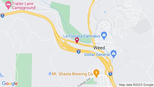 Motel 6 Weed - Mount Shasta Map