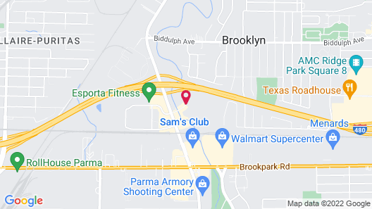 Extended Stay America Cleveland - Brooklyn Map