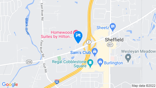 Homewood Suites by Hilton Cleveland / Sheffield Map