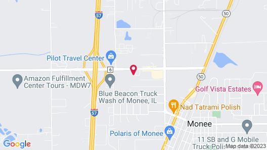 Quality Inn Monee I-57 Map