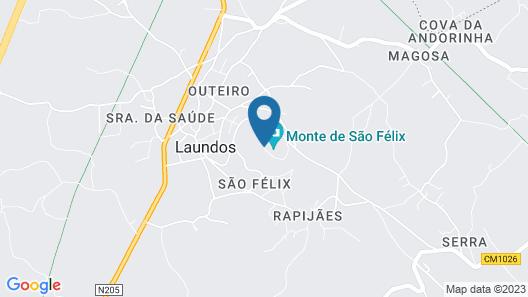 Sao Felix Hotel Hillside and Nature Map