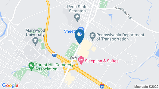 Quality Inn Dunmore - Scranton Map
