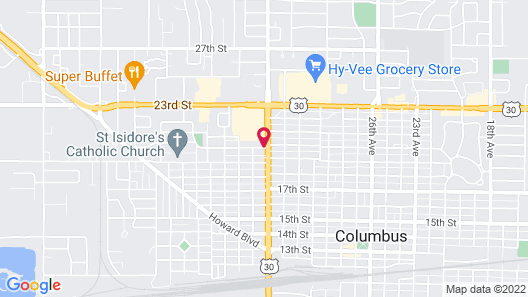 Super 8 by Wyndham Columbus Map