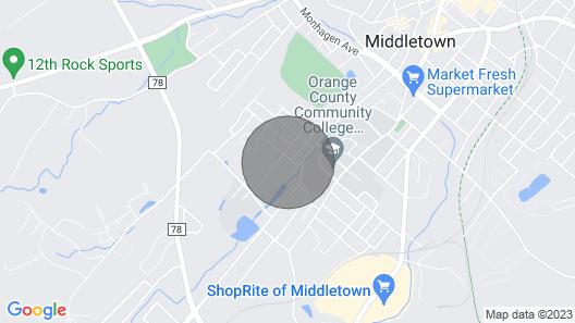 Madison Lodge - Middletown, Port Jervis, Hudson River Map