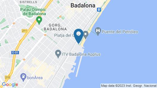 Barcelona Beachfront Apartment Map