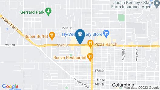 Hampton Inn Columbus NE Map