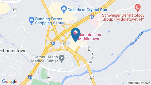 Hampton Inn by Hilton Middletown Map