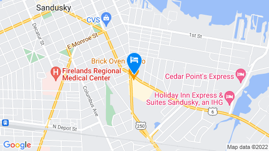 Rodeway Inn North Map