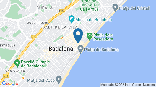 Hotelito Boutique Badalona Mar Map