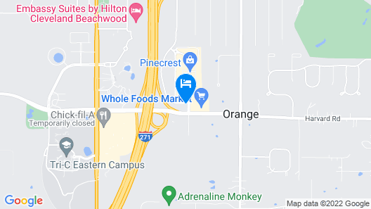 Drury Inn & Suites Cleveland Beachwood Map