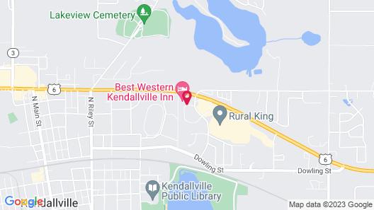 Best Western Kendallville Inn Map