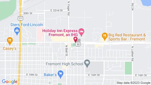 Super 8 by Wyndham Fremont NE Map