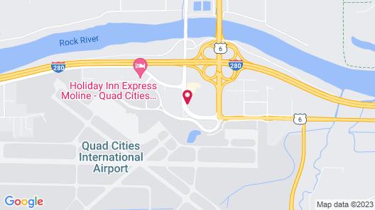 Quality Inn & Suites Moline - Quad Cities Map