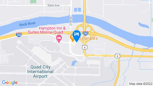 Country Inn & Suites by Radisson, Moline Airport, IL Map
