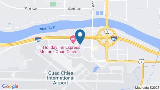 Hampton Inn & Suites Moline-Quad City International Airport Map