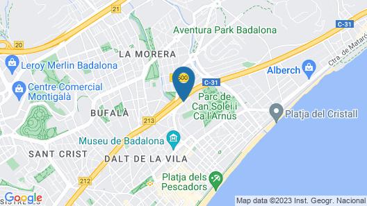 Rafaelhoteles Badalona Map