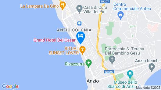Grand Hotel Dei Cesari Map