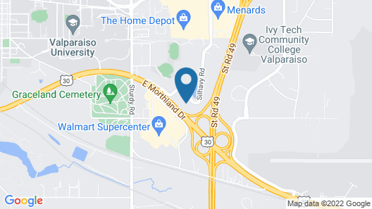 Hampton Inn & Suites Valparaiso, IN Map