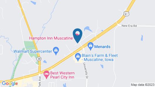 Hampton Inn Muscatine Map