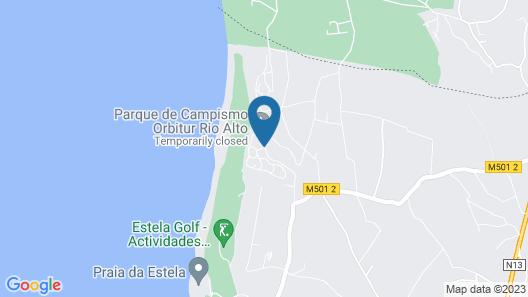 Parque de Campismo Orbitur Rio Alto Map